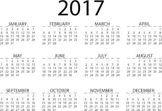 2017カレンダー無料テンプレート28