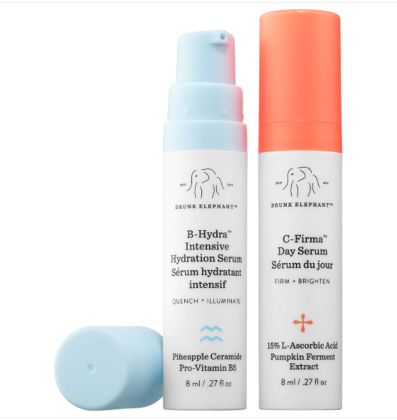 Drunk Elephant Rise and Glow Brightening Duo
