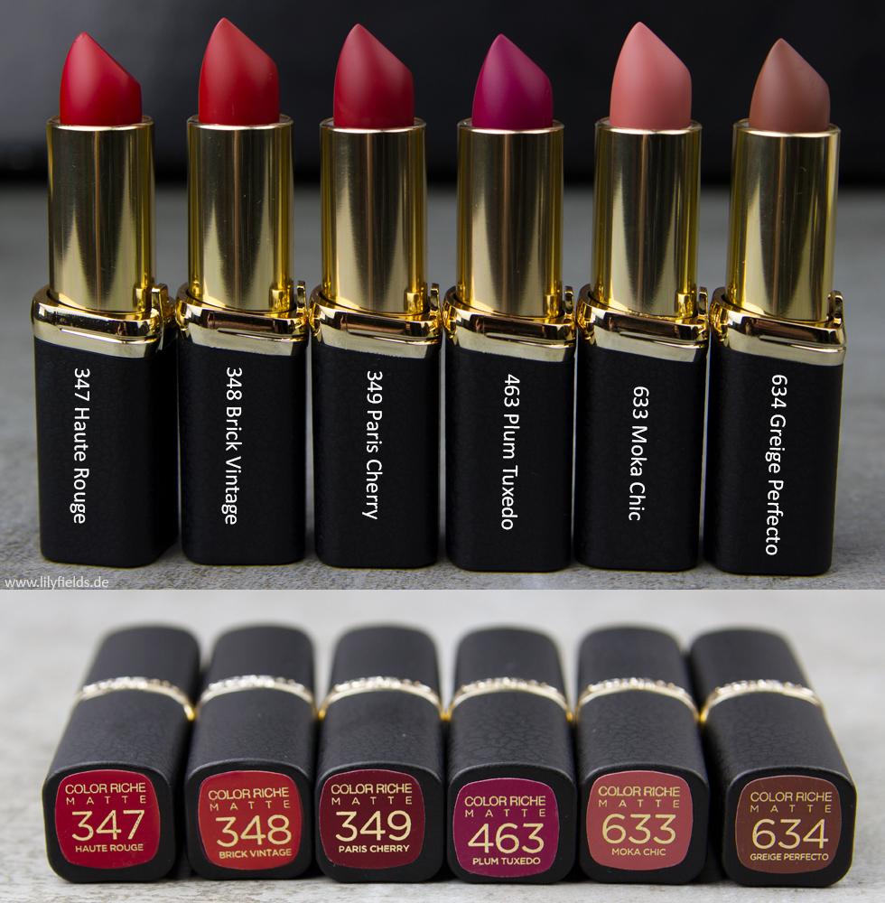 L'Oréal Color Riche Matte Lippenstifte