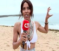 Sara Santos de decote na CMTV