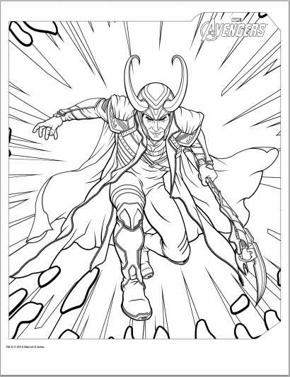 Color Up: Avengers 2012 Coloring Pages