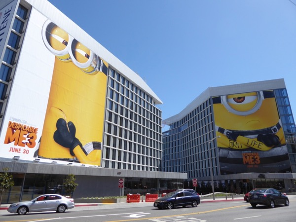 Giant Despicable Me 3 movie billboards
