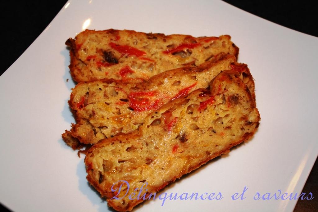 Delinquances Et Saveurs Cake Au Thon Tomates Sechees Gouda Et