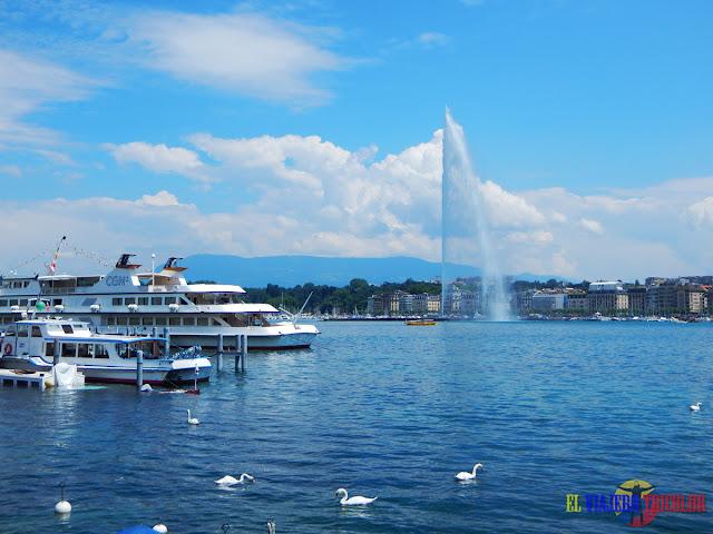 Jet d'Eau o Chorro de Agua en Ginebra