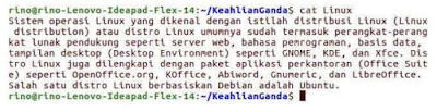 Contoh perintah dasar OS Linux Ubuntu