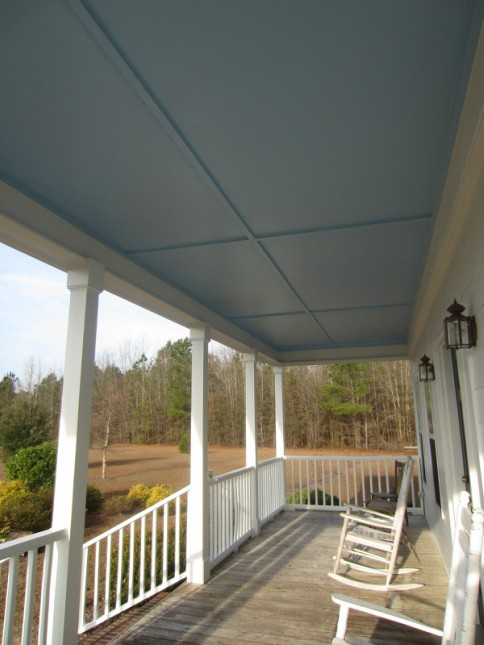HAINT BLUE PORCH CEILING
