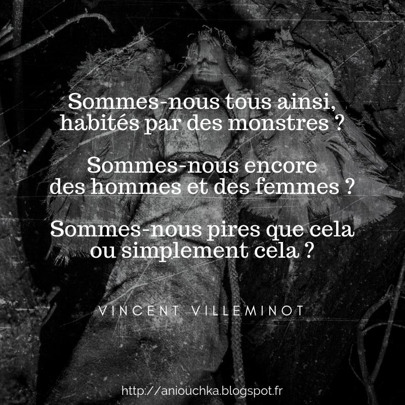 Fais de moi la colère de Vincent Villeminot