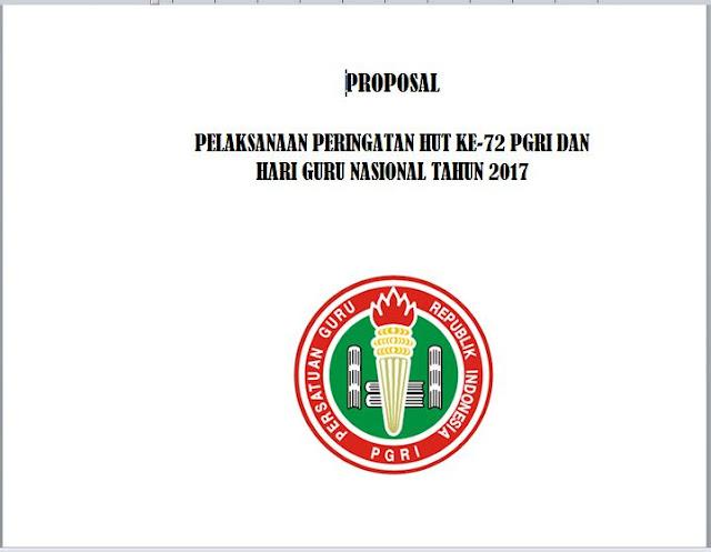 PROPOSAL HUT PGRI KE-72 DAN HGN (HARI GURU NASIONAL) TAHUN 2017 librarypendidikan.com