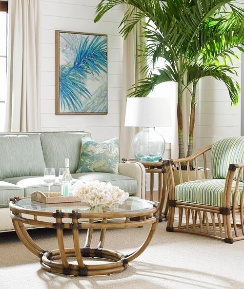 Tropical Green Palm Decor