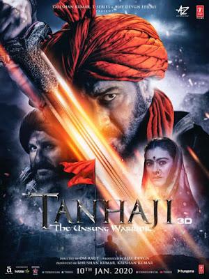 Tanhaji The Unsung Warrior 2020 Hindi Pre-DVDRip 400Mb world4ufree