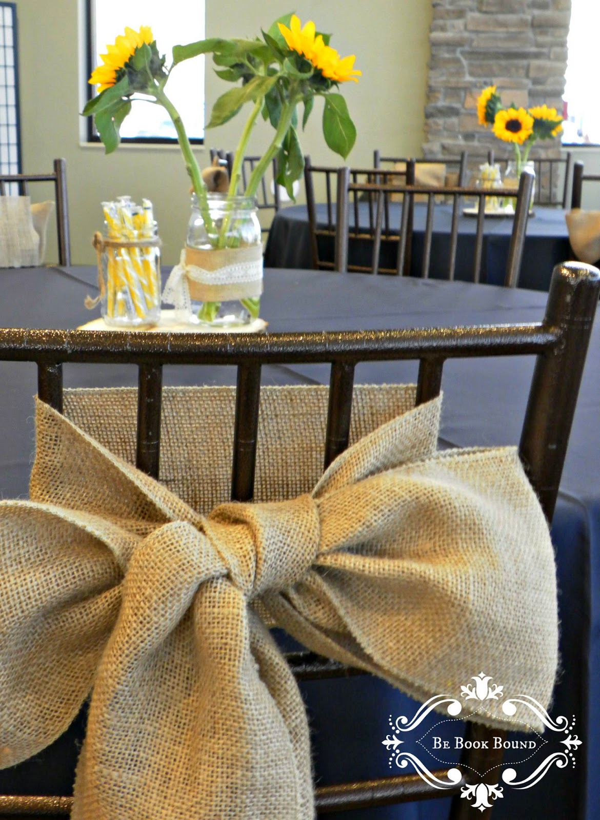 Burlap Bows For Wedding Chairs Desks And Be Book Bound Pride Prejudice A Country