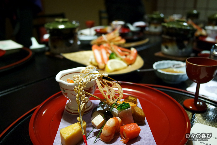 assortiment de saison dîner kaiseki