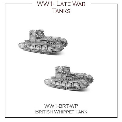 10mm Wargaming: Preparing to Release 12mm WW1 Tanks from