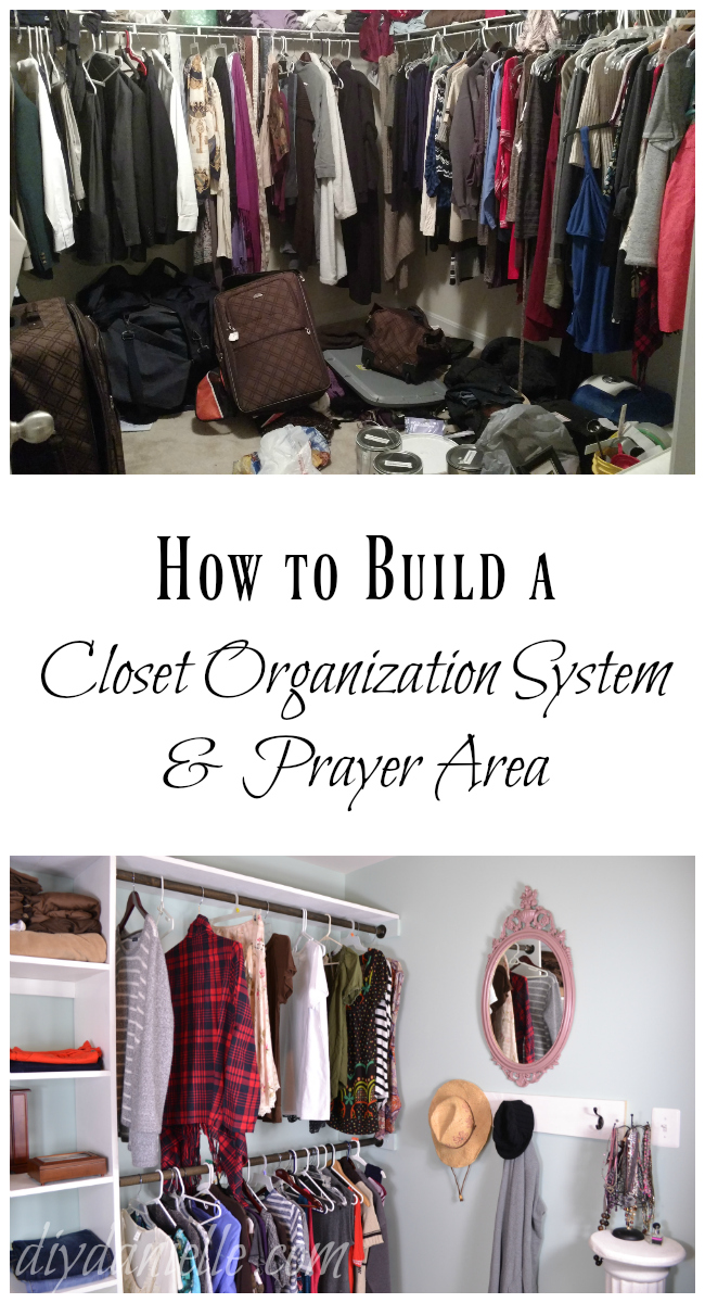 DIY Closet Organization with Shelving and Prayer Area