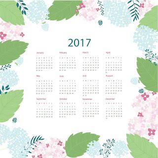 2017カレンダー無料テンプレート176