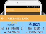 Rekening Bank TERMINALLE