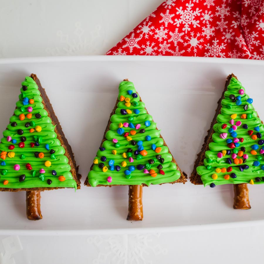 Christmas Tree Brownies.Christmas Tree Brownies My Name Is Snickerdoodle
