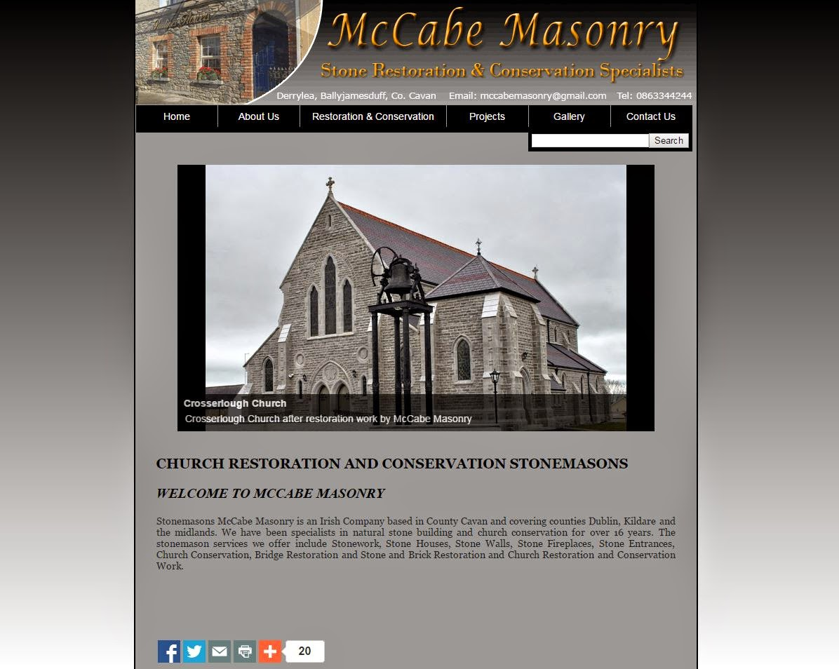 McCabe Masonry Cavan Website