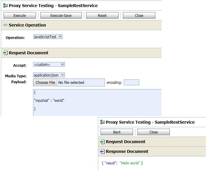 OSB12c JavaScript Action Testing