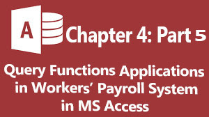 how to query workers payroll system in ms access