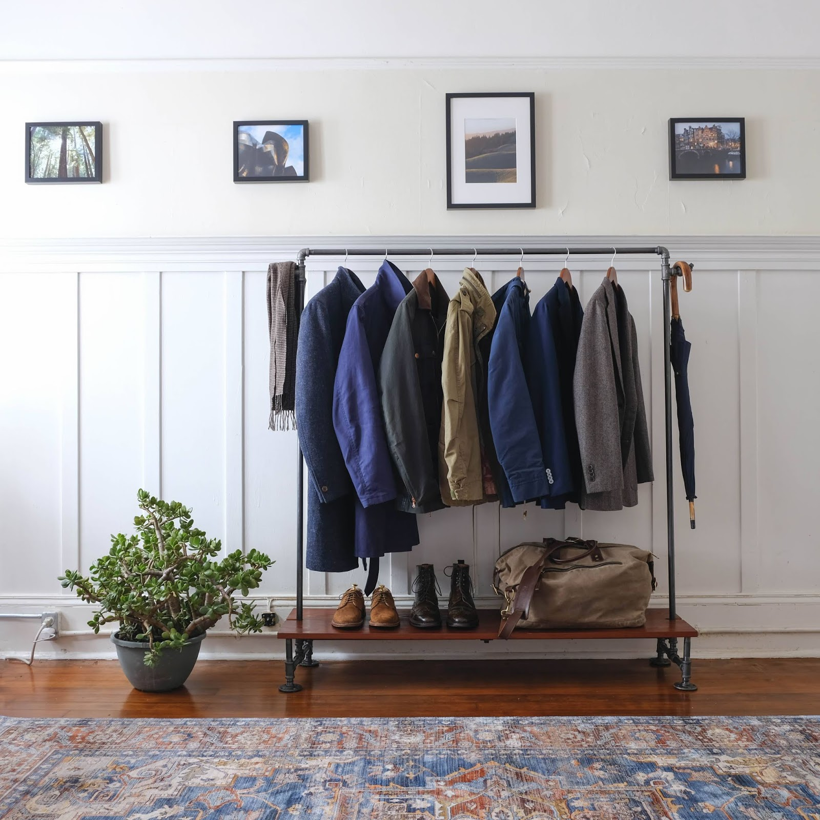 How To Make A Coat Rack Out Of Plumbing Pipe And Piece Of Wood