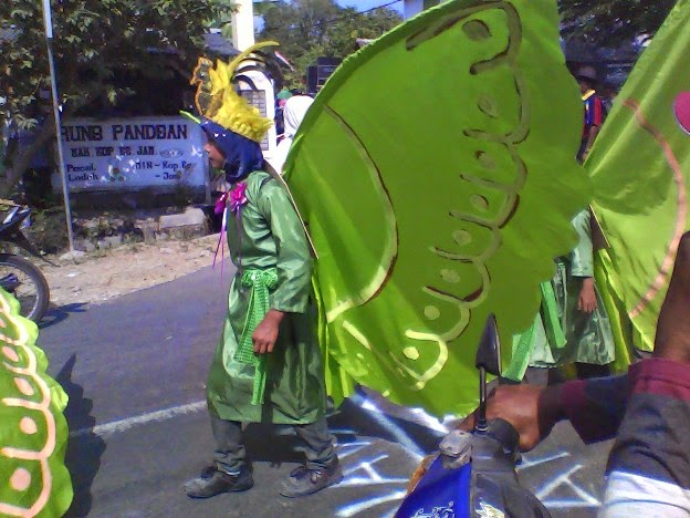 kupu raksasa SD negeri Tingkis karnaval Singgahan Tuban