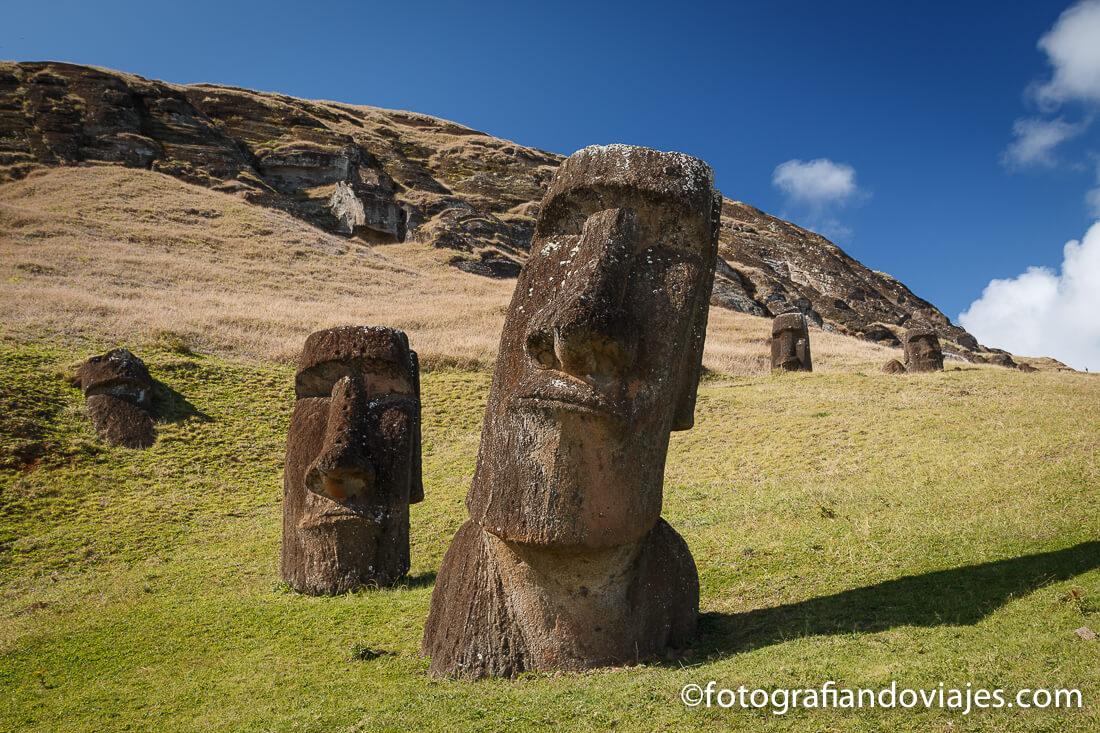 Ranu Raraku en Isla de Pascua