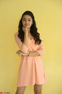 Rukshar Mir in a Peachy Deep Neck Short Dress 119.JPG