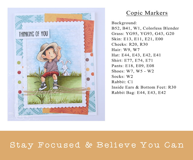 Heather's Hobbie Haven - Stay Focused and Believe You Can Card Kit
