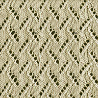 Eyelet Lace 65: Leaves of Grass |  Knitting Stitch Patterns.