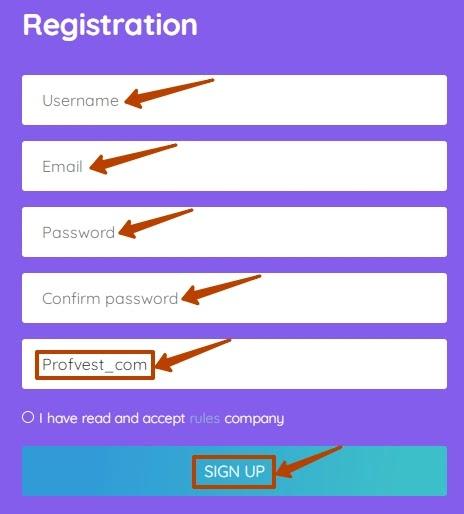 Регистрация в Blue Traders LTD 2
