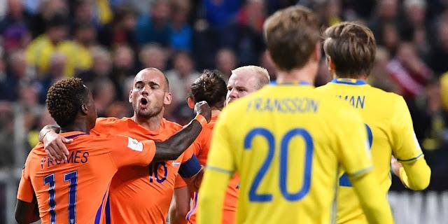 Belanda vs Swedia