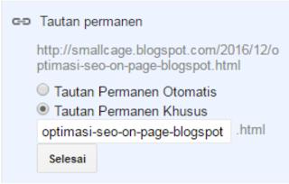 URL Artikel Permanent