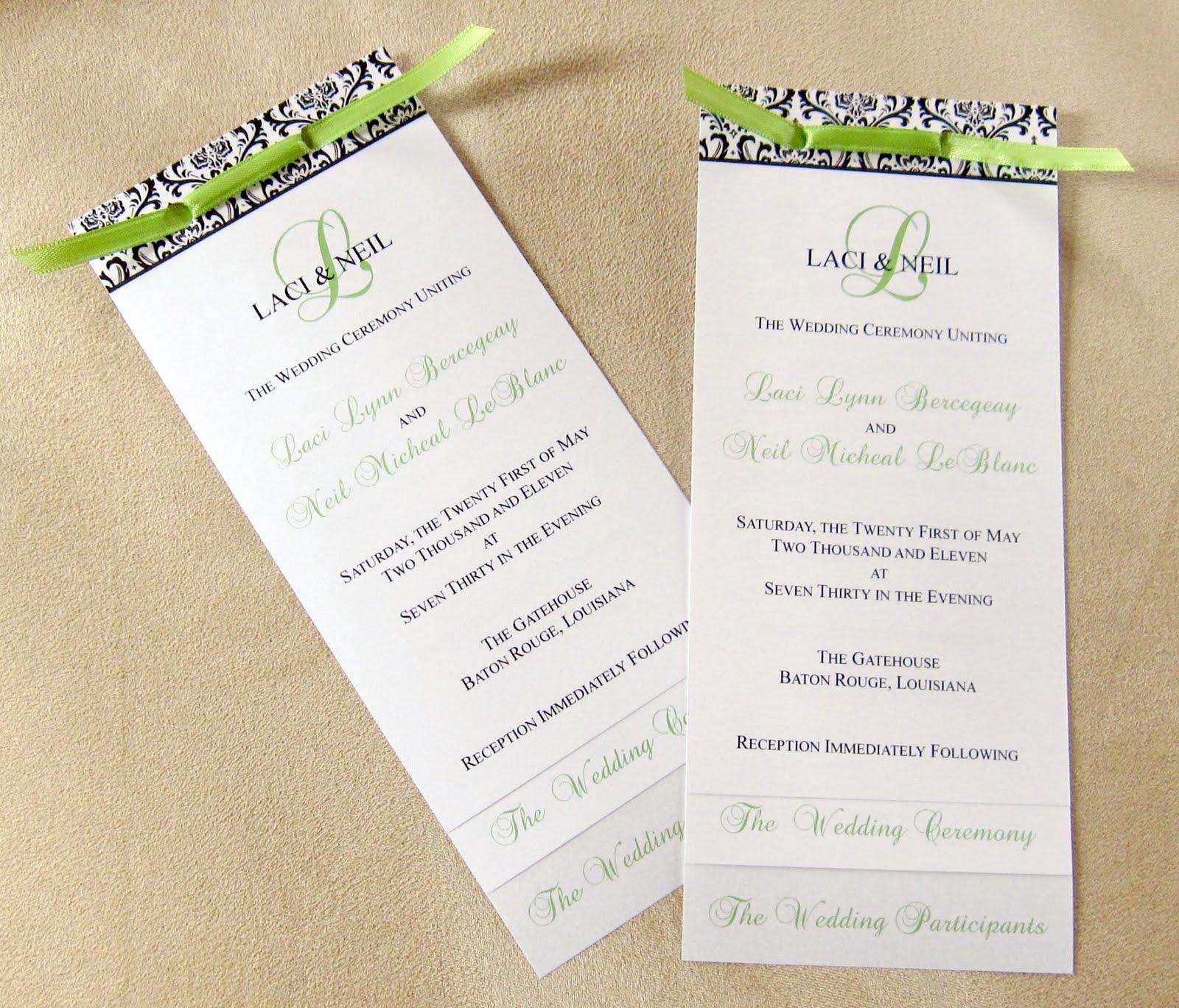 Layered Wedding Programs Templates Free Tbrb Info