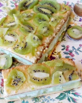 Ciasto z kisielem i kiwi