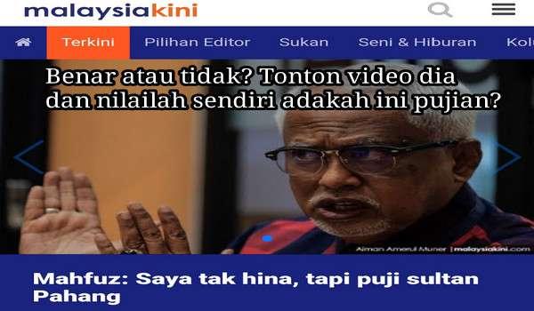 [Video] Mahfuz Omar Nafi sindir Tuanku Sultan Pahang