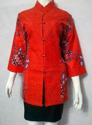 baju batik kerja kombinasi atasan dan bawahan