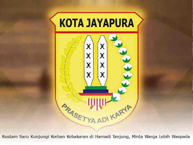 Rustam Saru Kunjungi Korban Kebakaran di Hamadi Tanjung, Minta Warga Lebih Waspada