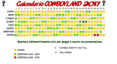 Calendario Cowboyland 2017