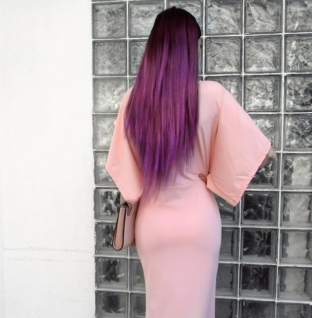 purple hair pinterest