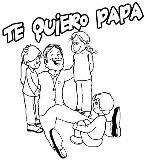 Dibujos del Dia del padre para colorear