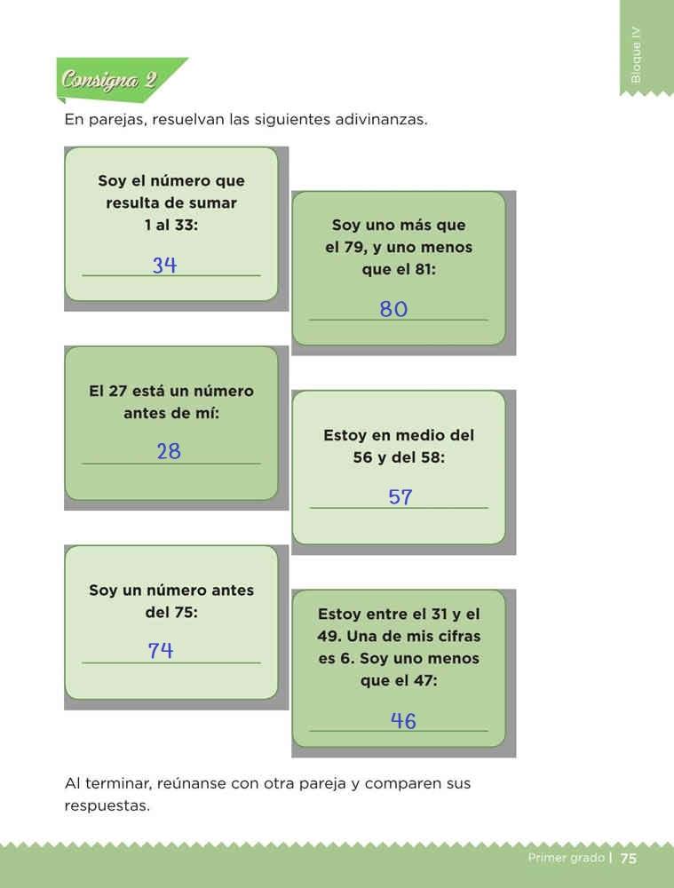 Adivina los números desafío 40 contestado libro desafíos matemáticos primer grado consigna 2 solucion