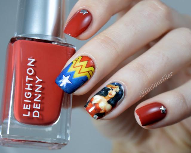 wonder woman nails batman vs superman water decals