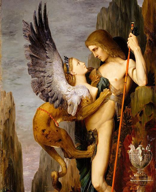 Gustave Moreau: Edipo e la Sfinge