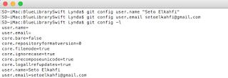Membuat user.name dan user.email pada Git