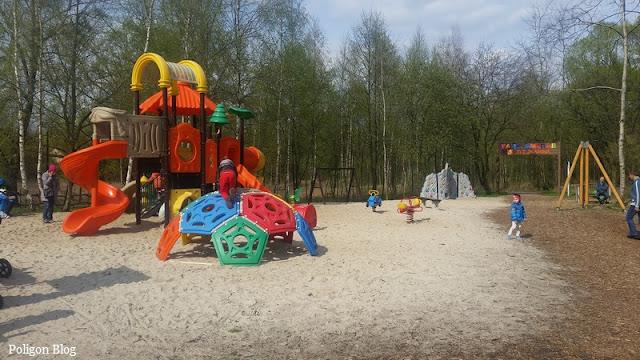plac zabaw, dzieci, Skawina, park