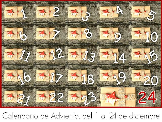 Calendario para Adviento con Cajas Enumeradas de Regalos