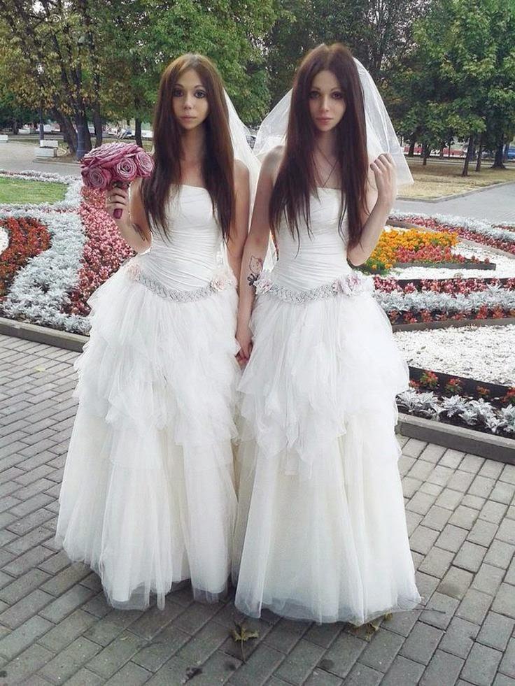 groom in bridal dress