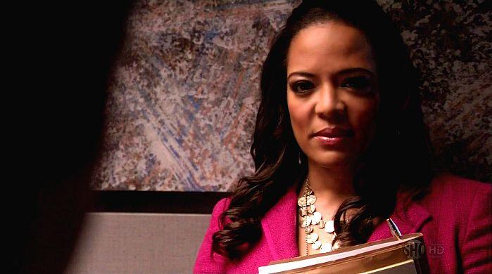 Luna Lauren Velez en una captura de Dexter