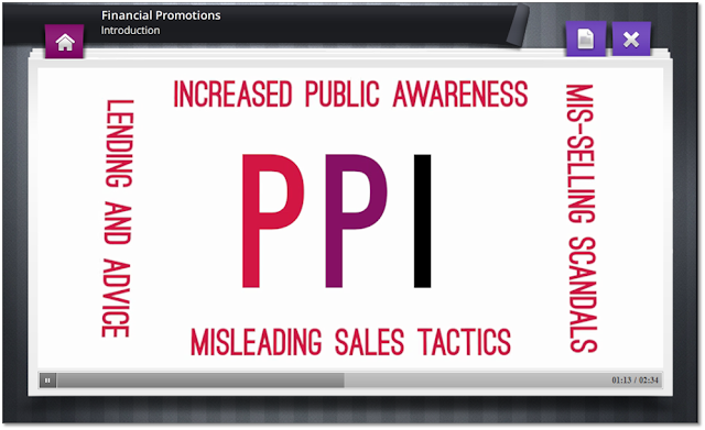 Image showing PPI misselling screen